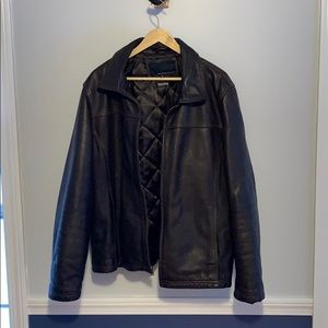 Wilsons Leather Jacket Brown Bomber